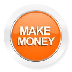 make money orange computer icon