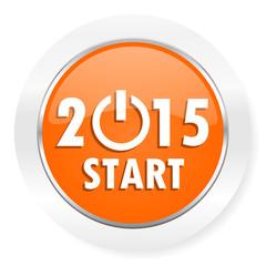 new year 2015 orange computer icon