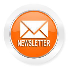 newsletter orange computer icon