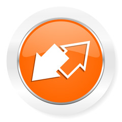exchange orange computer icon