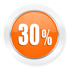 30 percent orange computer icon