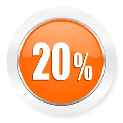 20 percent orange computer icon