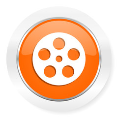 film orange computer icon