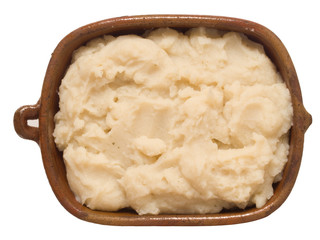 rustic mash potato isolated