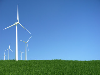 Green grass wind generator
