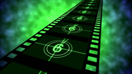 Movie Countdown Animation - Loop Green