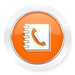 phonebook orange computer icon