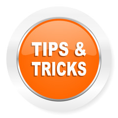 tips tricks orange computer icon