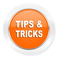 tips tricks orange computer icon