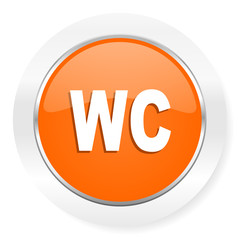 toilet orange computer icon
