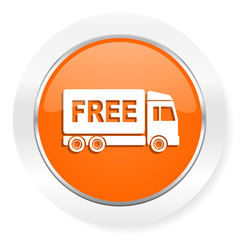 free delivery orange computer icon