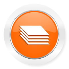 layers orange computer icon