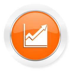 histogram orange computer icon