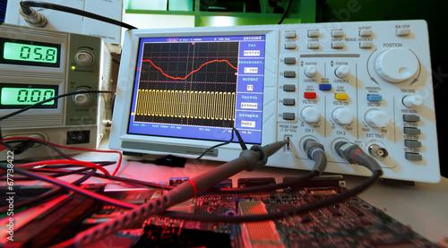Leinwanddruck Bild Electronics lab