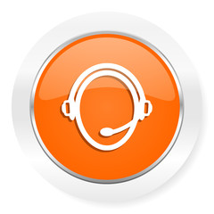 customer service orange computer icon