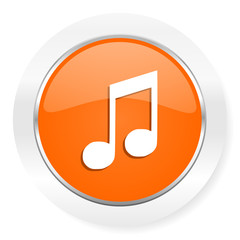 music orange computer icon