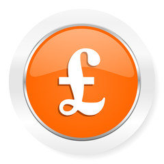 pound orange computer icon