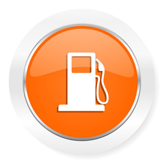 petrol orange computer icon