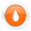 water drop orange computer icon