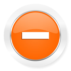 minus orange computer icon