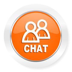 chat orange computer icon