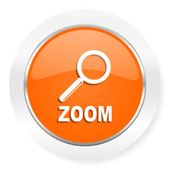 zoom orange computer icon