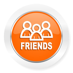 friends orange computer icon