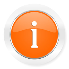 information orange computer icon