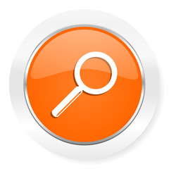 search orange computer icon