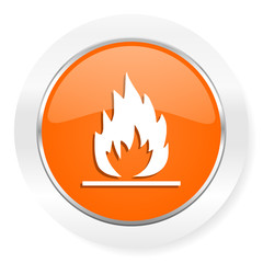 flame orange computer icon