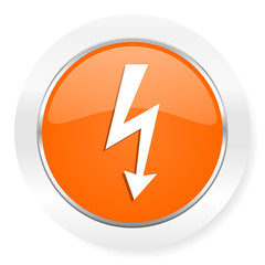 bolt orange computer icon