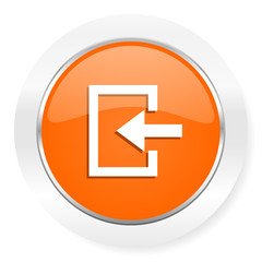 enter orange computer icon