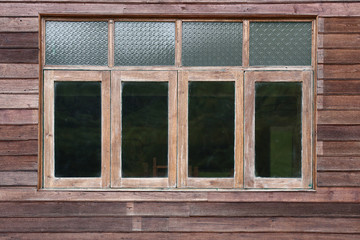 window wooden on wood house