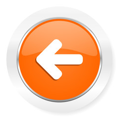 left arrow orange computer icon