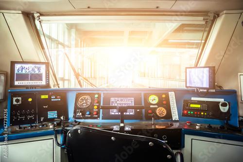 Leinwandbild Motiv City subway cockpit