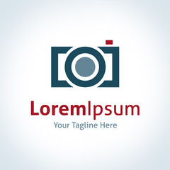 Photography professional company lens brand logo icon