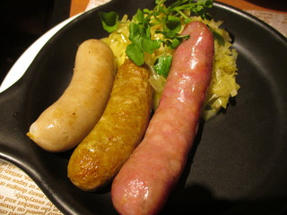 Three meals sausage
