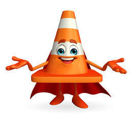 Super Construction Cone Character