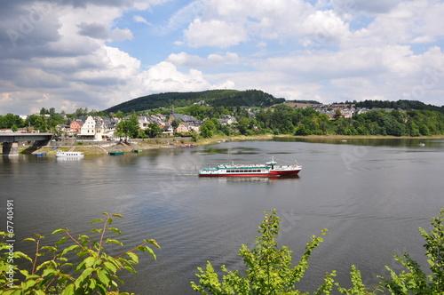 Leinwanddruck Bild Thüringer Meer / Saalburg-Ebersdorf