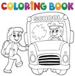 Coloring book school bus theme 2