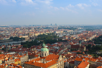 Cityscape of the old Prague