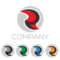 логотип модерн буква R