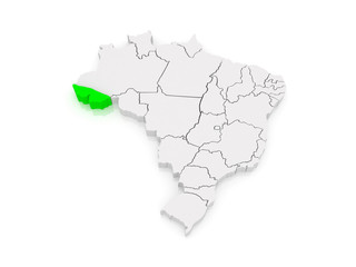 Map of Acre. Brazil.