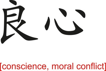 Chinese Sign for conscience, moral conflict