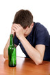 Sad Teenager in Alcohol Addiction