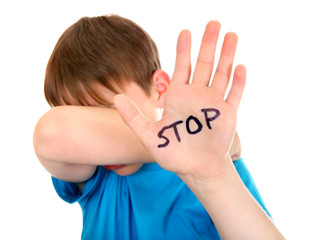 Kid says Stop Abuse