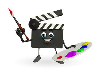 Clapper Board Character with color plate