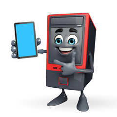 Computer Cabinet Character with mobile