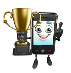 Mobile character with trophy