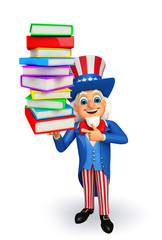 Uncle Sam with books